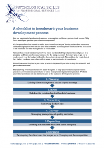 Download this checklist to benchmark your business development process