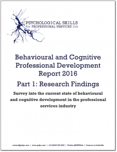 Behavioural and Cognitive Professional Development Report 2016 Image