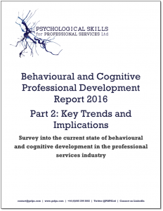 Behavioural and Cognitive Professional Development Report 2016 Part 2