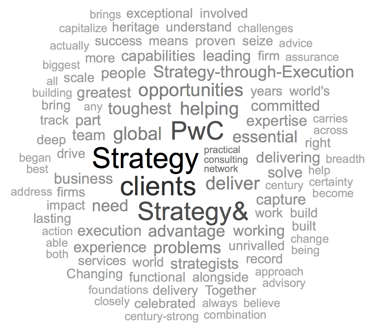 Strategy& Word Cloud