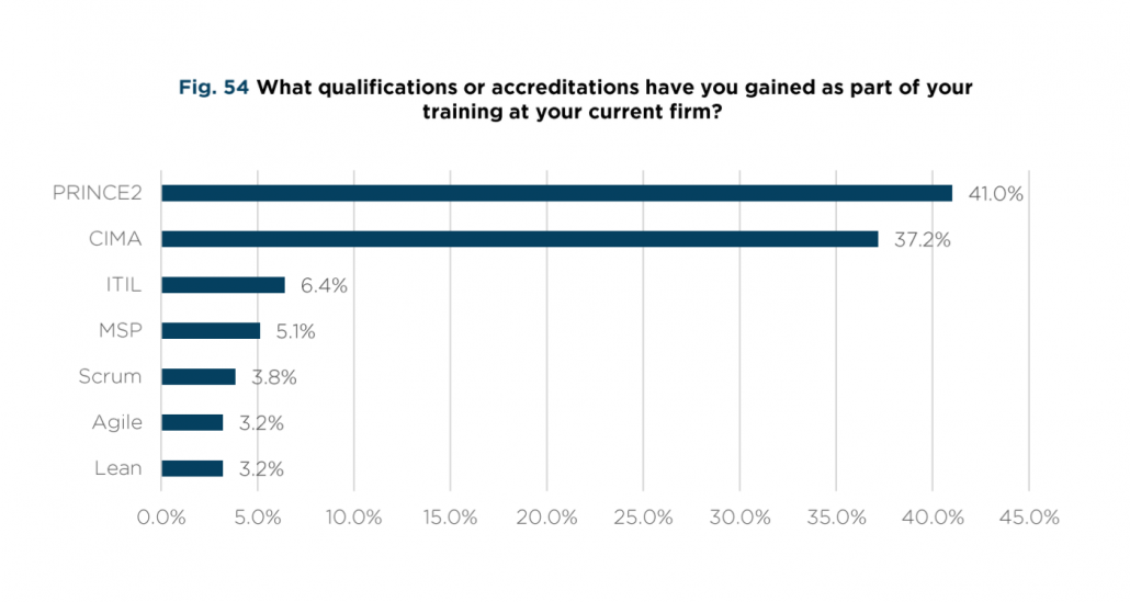 What qualifications have you gained as part of your training at your consulting firm?